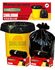 Shalimar Premium OXO - Biodegradable Garbage Bags (Medium) Size 48 cm x 56 cm 4 Rolls (120 Bags) (Black Color)