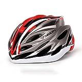 220g de peso ultra ligero -Eco-Friendly Super Light Casco Integralmente Bike, Casco ligero ajustable Mountain Road Bike Cascos para hombres y mujeres ( Color : Red titanium M )
