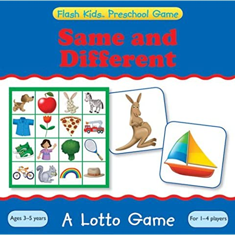 Same and Different: A Lotto Game (Flash Kids Preschool Games) by Flash Kids Editors (7-Jul-2009) Paperback