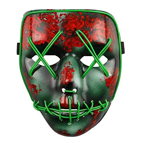 The Purge Wahl Jahr LED Beleuchtung Maske Fest Halloween (Kostüme Neon Halloween)