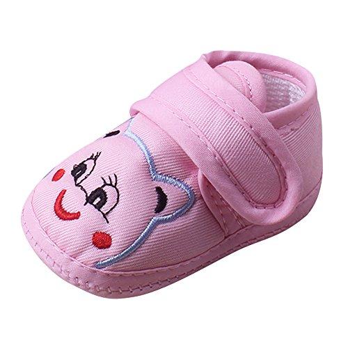 erthome Baby Schuhe, Baby Mädchen Junge weiche Sohle Cartoon Anti-Rutsch-Schuhe Kleinkind Schuhe (12cm ❤️ 6-12 Monate, Rosa) (Ostern-schuhe Kleinkinder Für)