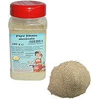 Gr 250Pimienta blanco Molienda de dispensador para aromatizar comida y salsas