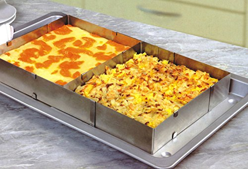 ufengke® Edelstahl Mousse Ring Quadrat Einstellbare Kuchen Ring Backform Kuchenform