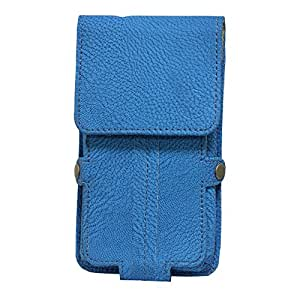 Jo Jo A6 G8 Series Leather Pouch Holster Case For Micromax X228 Exotic Blue