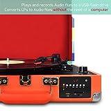 DIGITNOW-Tocadiscos-Bluetooth-plato-giradiscos-plato-vinilo-Funcin-Grabacin-FM-Radio-MP3USB-SD-3-velocidades-334578-RPM-con-Altavoces-Incorporados
