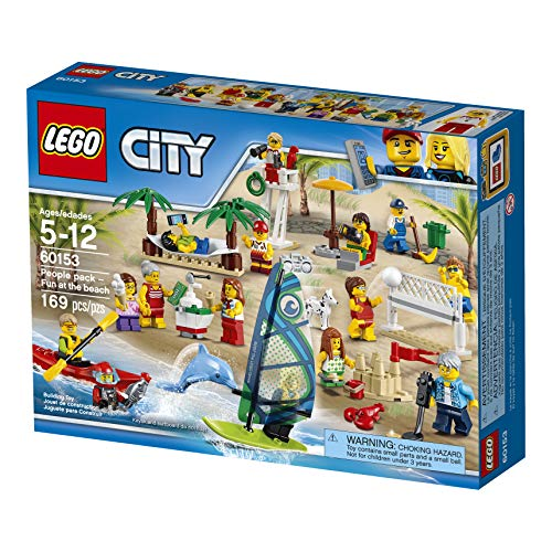 Lego 60153 City Town Pack de Mini Figuras: Diversión En la Playa, Multicolor