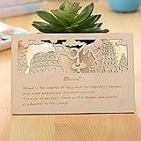 Cartolina Segnalibro Biglietti d'auguri Inviti Partecipazione Materiale Legno Elegante Taglia Con laser Ideale regalo (ROMA)