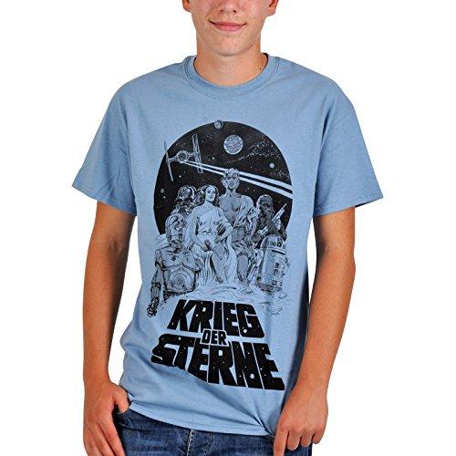 Preisvergleich Produktbild Star Wars - Krieg der Sterne T-Shirt Steelblue, L