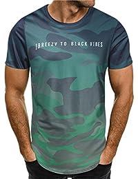 Camisetas Slim con Estampado De Camuflaje Hombre LHWY cfe3b80daf319