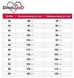 Dirndlspatz Dirndl Damen 3 teilig Anja in Grün Rosa Pink Geblümt Pink Gr 38 Festliche Midi Blumen Trachtenkleid 3 tlg Oktoberfest Vergleich