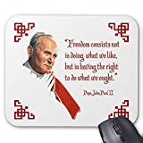 Computer Accessories Anti-Friction Wristband Pope John Paul II Freedom Mousepad