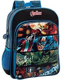 Marvel 4412351 Avengers Mochila Escolar, 15.6 Litros, Color Negro