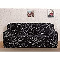 House of Quirk Universal Sofa Cover Big Elasticity Cover for Couch Flexible Stretch Sofa Slipcover (Black Branch, Four…