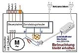 Funk-Abluftsteuerung EINBAU DAS-2090-E bis 2300W mit Fensterkontaktschalter DFM-1000. Lichtfunktion der Dunsthaube bleibt erhalten. Test