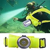 LKSDD LED Stirnlampe, XM-Q5 LED Unterwasserwasserdicht 60M Tauchen Scheinwerfer Scheinwerfer...