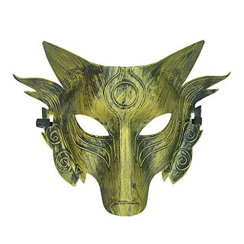 Kostüm Mann Kettensägen - Lazzboy Cosplay Wolf Kostüm Maske Vollgesichtsmaske Für Männer Frauen Realistische Halloween-karnevalsparty Spielt Dekoration(A)