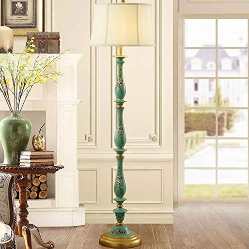 Lampadaires- Jeunesse Nostalgique Lampadaire Salon Simple Canapé Lampe Lampe De Chambre Américain Nordic Chambre Peint À La Main (Couleur : Blanc)