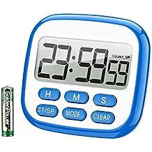 TOPELEK Digital Temporizador de Cocina, Temporizador de 24 Horas Reloj Despertador con Pantalla LCD de