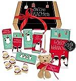 Weihnachten Geschenkbox Geschenk Geschenkset Plüsch Bär Schutzengel Advent Nikolaus Wichtel Adventszeit Schokolade STEINBECK süß Weihnachtsgeschenk Merry Christmas Geschenkkorb