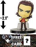 "Antonio Lopez: ~2.1"" Tiger & Bunny X Deformeister Petit Dmp Mini Figure + 1 Free Anime Themed Trading Card Bundle"