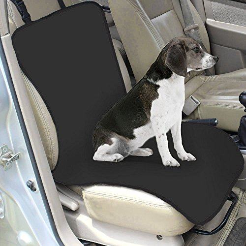 Pet Car Seat Mat Single Rear Seat Folding Waterproof Oxford Fabric Seat Back Cover Dog Cat Cushion Closely Automobile Co - pilot Car Seat Carrier Pad Good for Travel (Black)