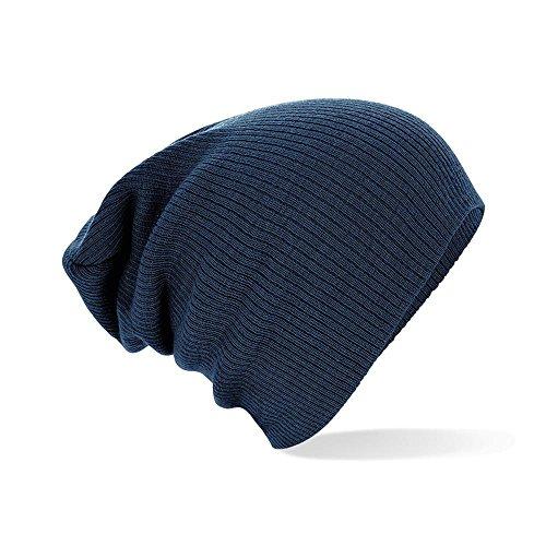 Beechfield Unisex Winter Beanie Mütze (Einheitsgröße) (Marineblau) Einheitsgröße,Marineblau (Mütze Blaue)