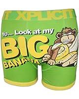 Mens Boys Xplicit Designer Novelty Rude Boxer Trunks Shorts Underwear S to XXL