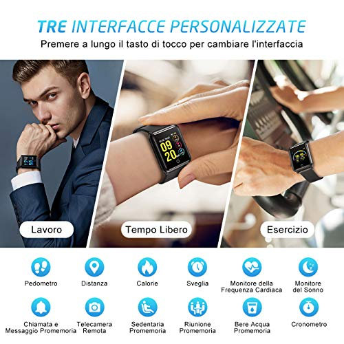 Zoom IMG-1 smartwatch impermeabile ip68 seneo smart