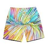 Dessin au Crayon Homme Shorts de Bain Plage Maillot de Bain 3D Print Natation Court Pants Séchage Rapide Sport de Beach Shorts,2XL