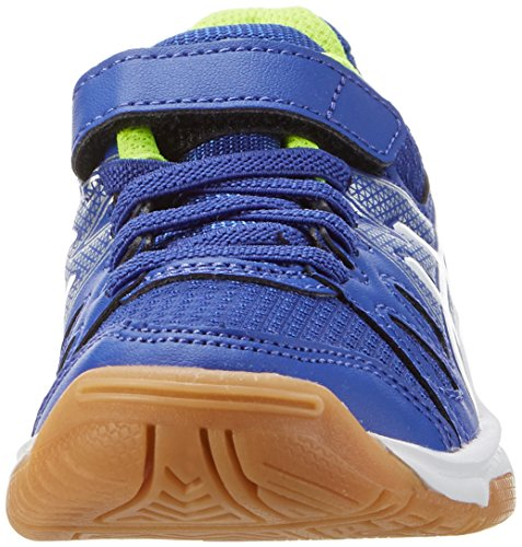 Asics Pre-Upcourt Ps, Chaussures de Fitness Mixte Enfant Bleu (Asics Blue/white/safety Yellow)