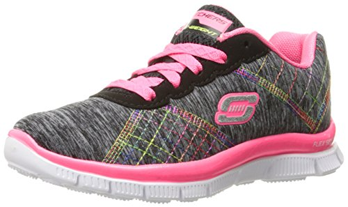 Skechers Skech Appeal It'S Electric, Scarpe Running da Bambine e Ragazze, Nero, 29