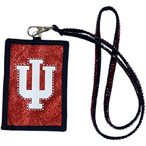 NCAA Indiana Hoosiers Beaded Lanyard with Nylon Wallet
