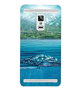 For Vivo X3S Beach, Blue, Trees, Lovely pattern, Printed Designer Back Case Cover By CHAPLOOS