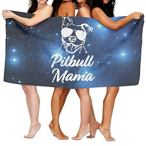 XIEXING Badetuch Pitbull Mama Custom Bathroom Body Shower Towel Beach Bath Towel Beach Towel Beach Towels 31x51 Inches