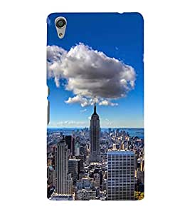 FUSON New York Urban Skyscrapers 3D Hard Polycarbonate Designer Back Case Cover for Sony Xperia C6 Ultra Dual