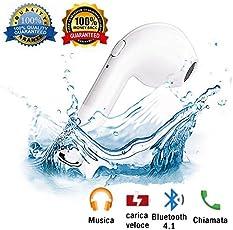 Auricolare Bluetooth, Auricolari Wireless Auricolari Bluetooth Cuffie Bluetooth Senza Fili V4.1 per Samsung Galaxy S7 S6 Note Sony Huawei P10/P20 Smartphone(Nota: c'è solo un orecchio destro)