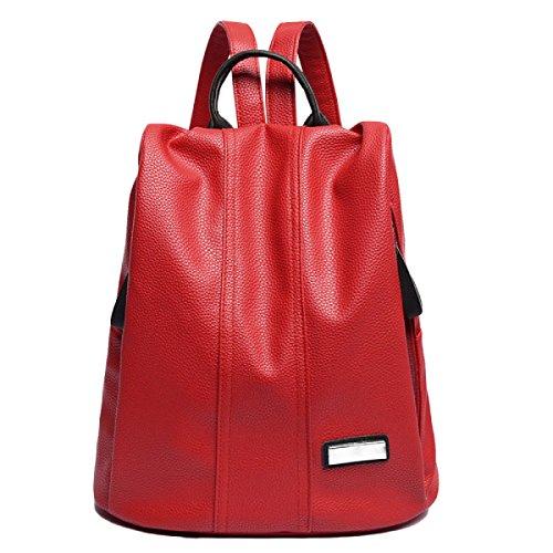 Mode Lychee Muster Schultertasche Einfachen Temperament Damen College Wind Rucksack Red