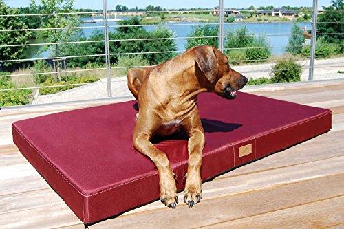 tierlando® Mobile Hundematratze HUGO BASIC | Gehobene Stabilität & Qualität! | Anti-Haar Polyester | L 100 x 80 x 13 cm | Graphit Grau - 6