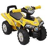 ATV Rutschauto 551 ab 1 Jahr mit Musikfunktion, Hupe, Quad Design (Gelb)