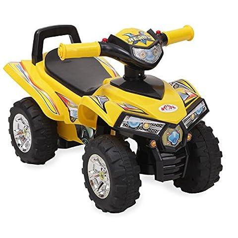 Rutschauto ATV 551 ab 1 Jahr mit Musikfunktion, Hupe, Quad Design (Gelb)