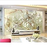 Moderno Hogar Decoración Mural Alivio Blanco Jade Esmeralda 3D De Lujo Sala De Estar Dormitorio Tv Papel Tapiz De Fondo Tapety