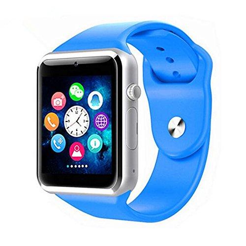 Galleria fotografica Lemumu Smart Card Bluetooth chiamata Touch Screen per Android Smart Phone Watch,blu