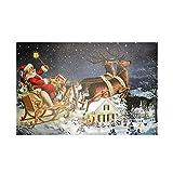 We Love Christmas Quadro LED Babbo Natale sulla Slitta 40x60cm