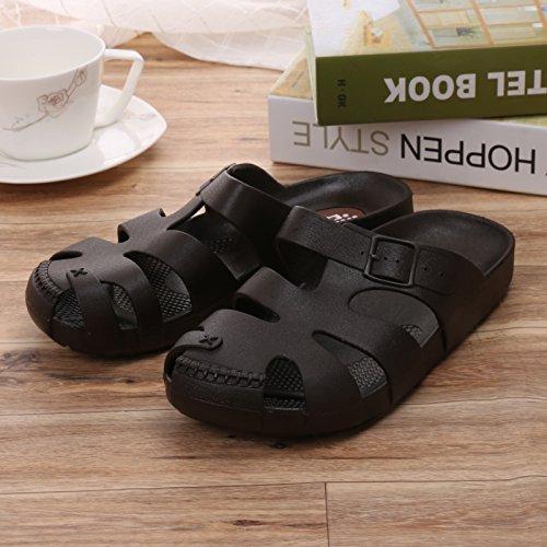 Sandales d'été pour hommes chaussons chaussons chaussures occasionnels chaussures paresseux respirant confortable flat sandals Baotou Blue