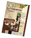Glitterkarton 300g/m², CLASSIC 24x34cm, 5 Blatt farbig sort.