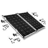 Offgridtec© Befestigungs-Set für 2 Solarmodule - für Dachziegel