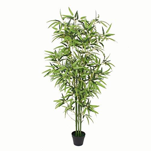 PASAMO 07092 Bambus, Echtholzstamm, Kunstpflanze 170cm