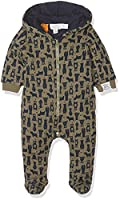 Pumpkin Patch Baby Boys 0-24m Bear Print Padded All in One Footies, Green (Ivy Green), 0-3 Months (Manufacturer Size:0-3M)