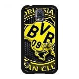 Bundesliga BVB Borussia Dortmund Logo Entwurf Silikonhülle Hülle für Samsung Galaxy S5