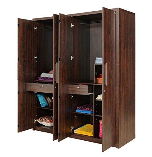Zuari Arizona Four-Door Wardrobe (Honey Finish, Brown)  available at amazon for Rs.29990